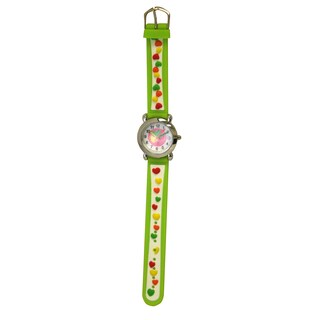 Olivia Pratt Kids' Silver Bezel Silicone Small Hearts Watch (Option: One-Size Green)