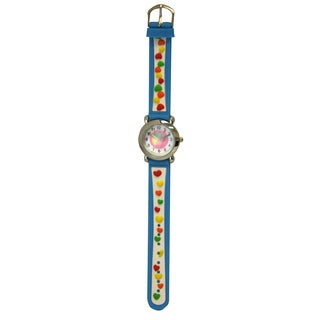 Olivia Pratt Kids' Silver Bezel Silicone Small Hearts Watch
