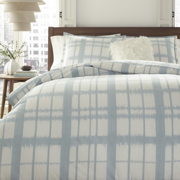 City Scene Ellis Plaid Cotton 3-Piece Comforter Set