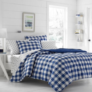 Poppy & Fritz Gingham Navy Comforter Set
