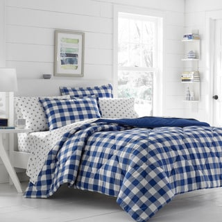 Poppy & Fritz Gingham Navy Comforter Set