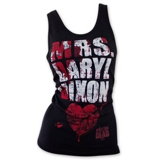 'The Walking Dead' Mrs. Daryl Dixon Multicolored Cotton Blood Splatter Tank Top