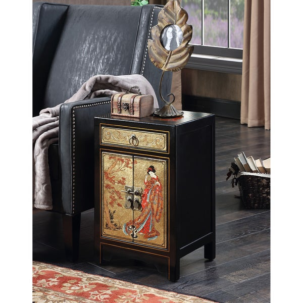 Beau Clay Alder Home Logan Touch Of Asia Multicolor 1 Drawer Cabinet End Table