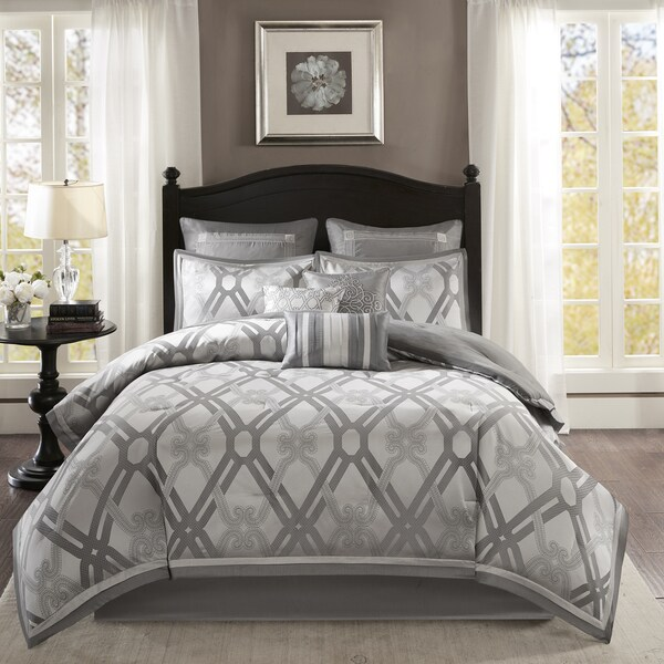 Madison Park Kelsey Silver 9 Piece Comforter Set