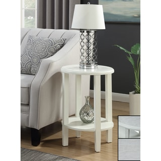 Convenience Concepts Seville White Wood Oval End Table