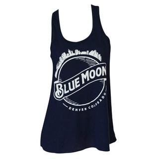 Blue Moon Skyline Flowy Midnight Blue Cotton Tank Top