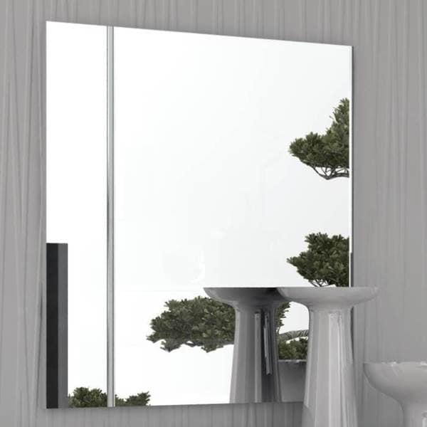 Modern Life Brooke High Gloss Frameless Mirror - White - A/N