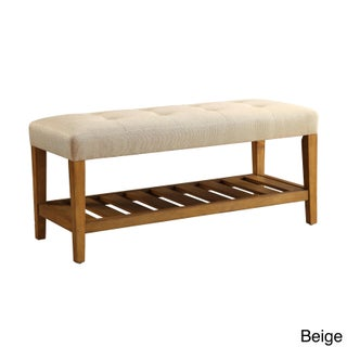 Havenside Home Ventura Multicolor Tufted Fabric Bench