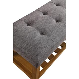 Acme Furniture Charla Multicolor Tufted Fabric Bench