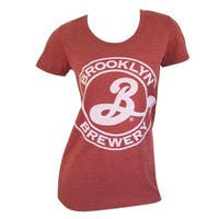 Brooklyn Brewery Women's Circle Logo Red Cotton Tee Shirt