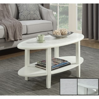 Convenience Concepts Seville Oval Coffee Table
