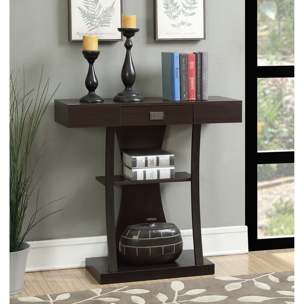 Convenience Concepts Newport Harri Brown Metal Console Table