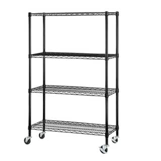 Excel NSF Multi-Purpose 4-Tier Wire Shelving Unit with Casters