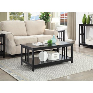 Porch & Den Bywater Miro Mission Coffee Table (Option: Black)
