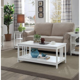 Convenience Concepts Mission Coffee Table (Option: White)