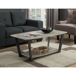 Convenience Concepts Graystone Metal Wood Coffee Table