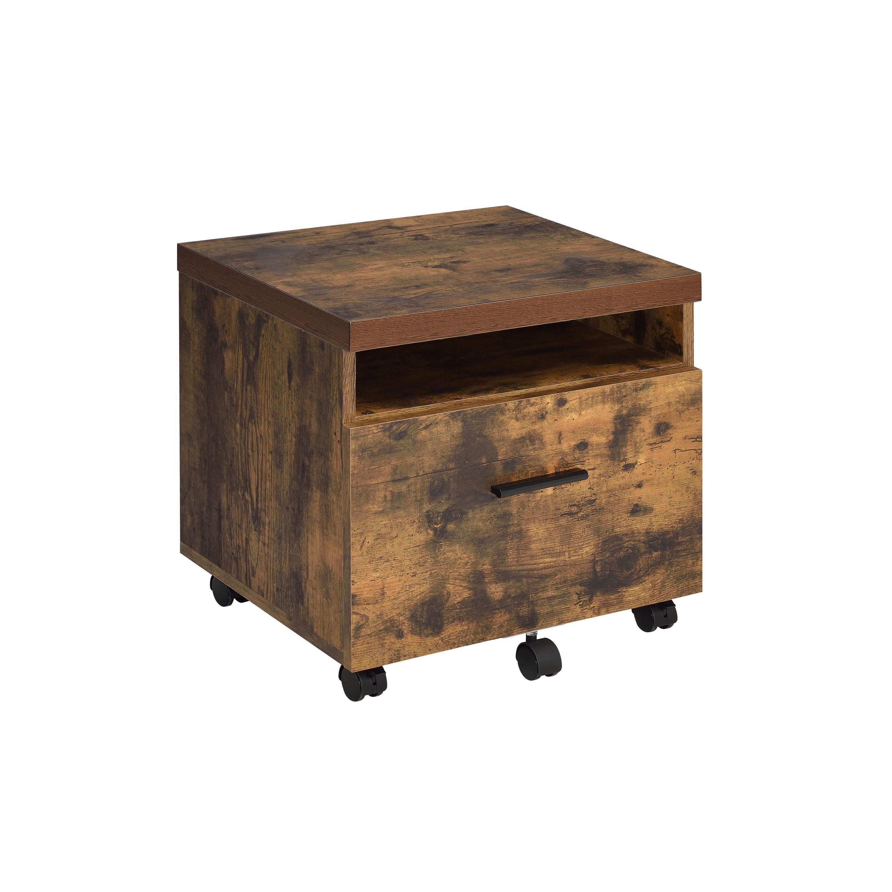 Pine Canopy Hibiscus Weathered Oak Rustic File Cabinet