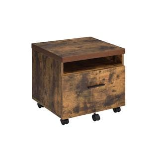 ACME Furniture Bob Weathered Oak Rustic File Cabinet