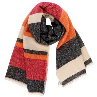 LA77 Multi Colored Stripe Blanket Scarf