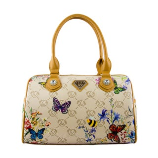 Lany Multicolor Faux Leather Butterfly Satchel