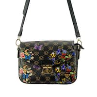 Lany Multicolored Faux-leather Butterfly Lock Crossbody Bag