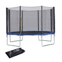 ExacMe Heavy 12' Duty Trampoline Safety Enclosure Net with Spring Pad Ladder
