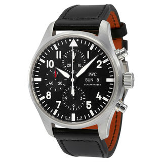 IWC Pilots IW377709 Men's Black Dial Watch