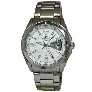 Casio Edifice EF129D-7A Men's White Dial Watch