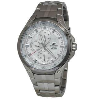 Casio Edifice EF326D-7A Men's White Dial Watch