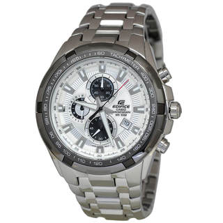 Casio Edifice EF539D-7A Men's White Dial Watch