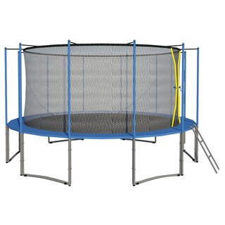 16FT Trampoline 6W Legs Round Safety Pad Enclosure Net ladder COMBO