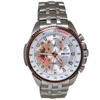 Casio Edifice EF558D-7A Men's White Dial Watch