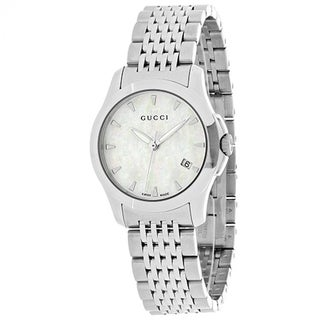 Gucci Timeless YA126533 Women's White MOP Dial Watch