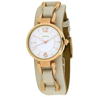 Fossil Georgia Artisan ES3934 Women's White Dial Watch