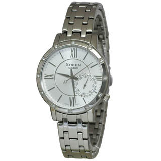 Casio Sheen SHE3046DP-7A Women's White Dial Watch