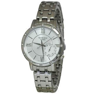 Casio Sheen SHE3046DP-7A Women's White Dial Watch