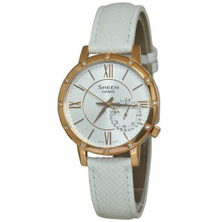 Casio Sheen SHE3046GLP-7 Women's White Dial Watch