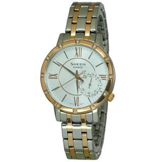 Casio Sheen SHE3046SGP-7 Women's White Dial Watch