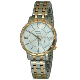 Casio Sheen SHE3046SGP-7 Women's White Dial Watch