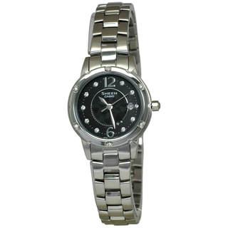 Casio Sheen SHE4021D-1A Women's Black Dial Watch