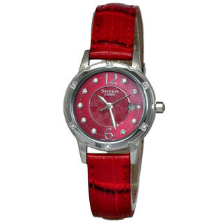 Casio Sheen SHE4021L-4A Women's Red Dial Watch
