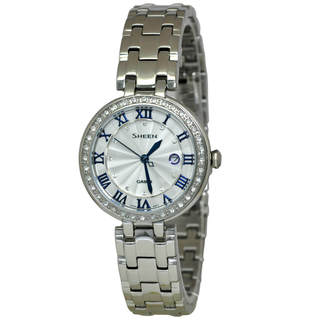 Casio Sheen SHE4034D-7A Women's White Dial Watch