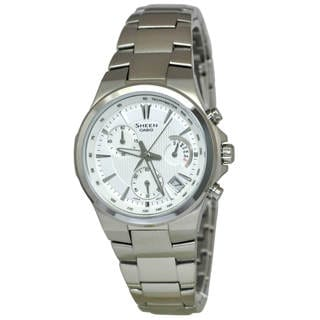 Casio Sheen SHE5019D-7A Women's White Dial Watch