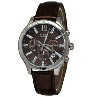 Casio Sheen SHE5020L-5A Women's Brown Dial Watch (Option: Brown) https://ak1.ostkcdn.com/images/products/14104801/P20712621.jpg?impolicy=medium