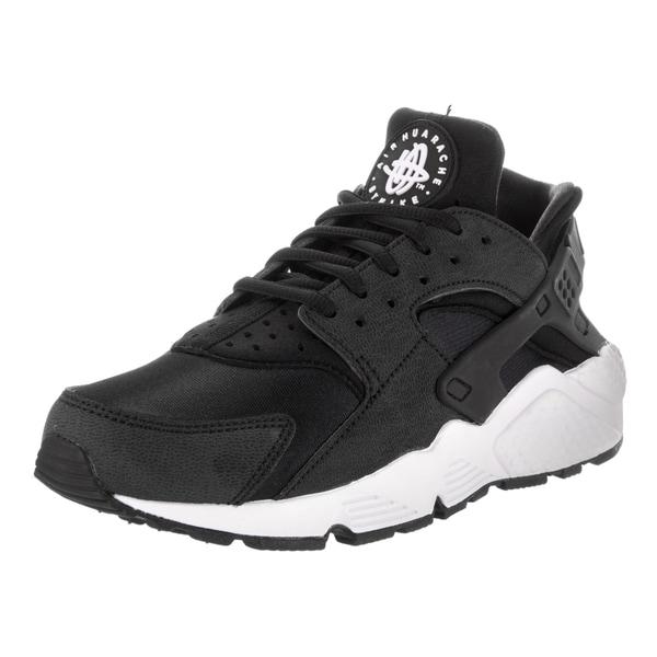 b7fb923f8b5b Nike Women  x27 s Air Huarache Run Black Synthetic Leather Running Shoes