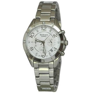 Casio Sheen SHE5021D-7A Women's White Dial Watch