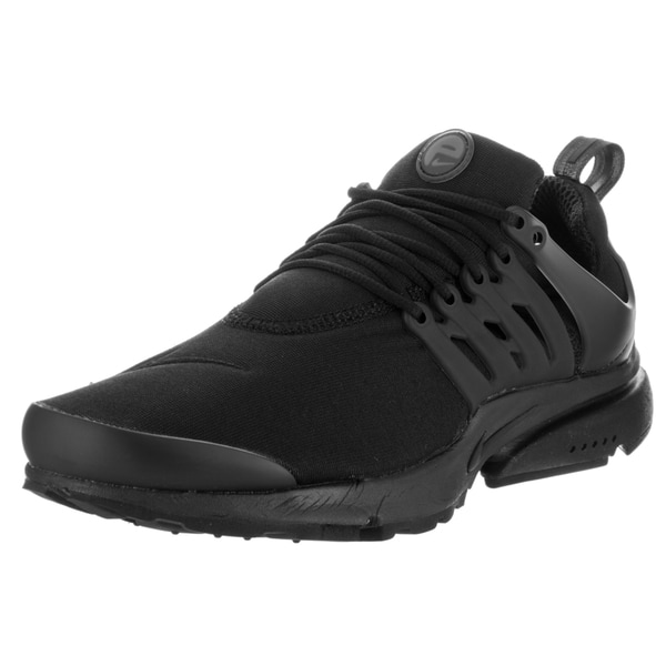 Shop Nike Men s Air Presto Black Synthetic Leather Running Shoes ... 145ec954eaf9