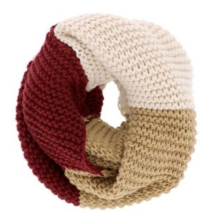 Colorblock Chunky Knit Infinity Scarf