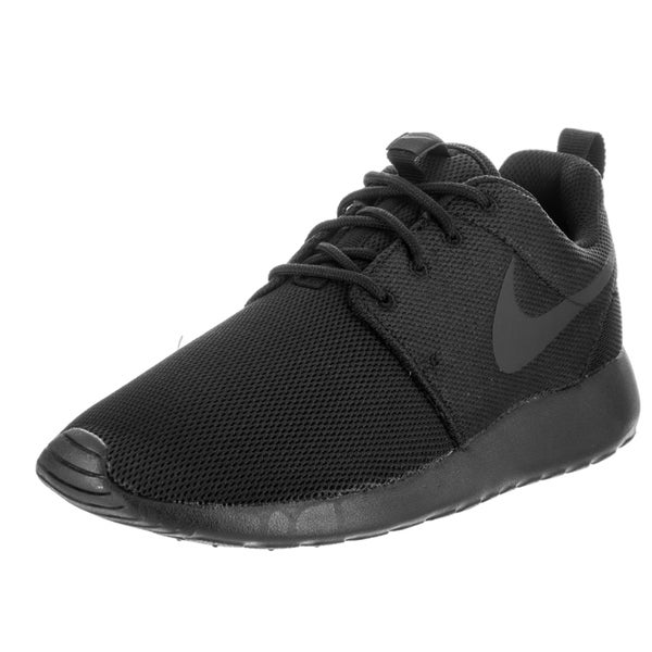 0642e9e90944 Shop Nike Women s Roshe One Black Running Shoes - Free Shipping ...