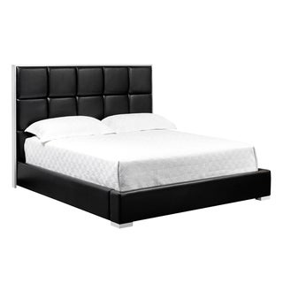 Tompkins Black Leather Bed